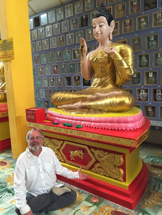 With my Sheep Year Buddha in Georgetown.