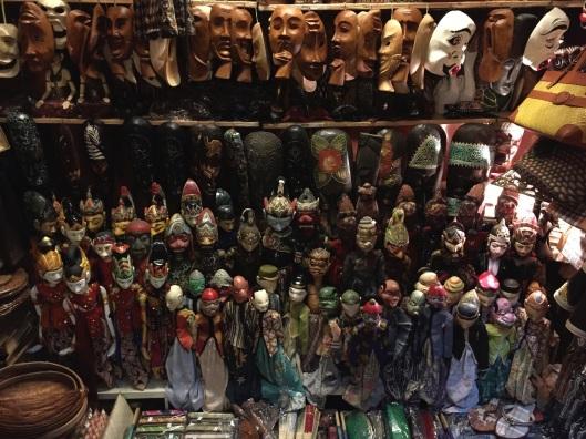 A puppet shop in Kuala Lumpur, Malaysia.