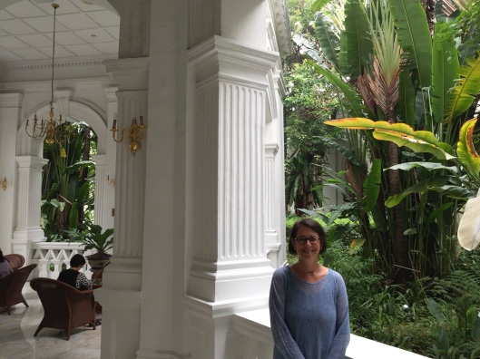 Surrounded by the ghosts of Maugham, Hesse, Conrad and Hemingway, Jan remembers her uncle Lou and Jacob Zeitlin at the Raffles Hotel in Singapore.
