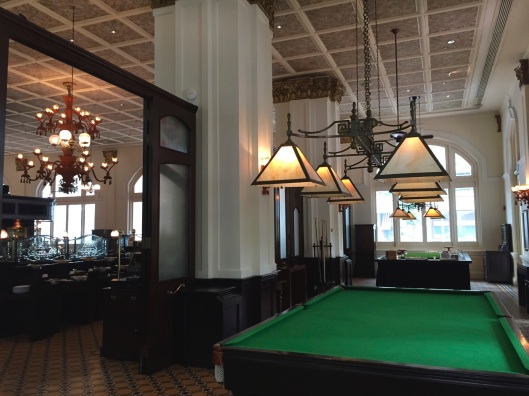 The Raffles pool table.