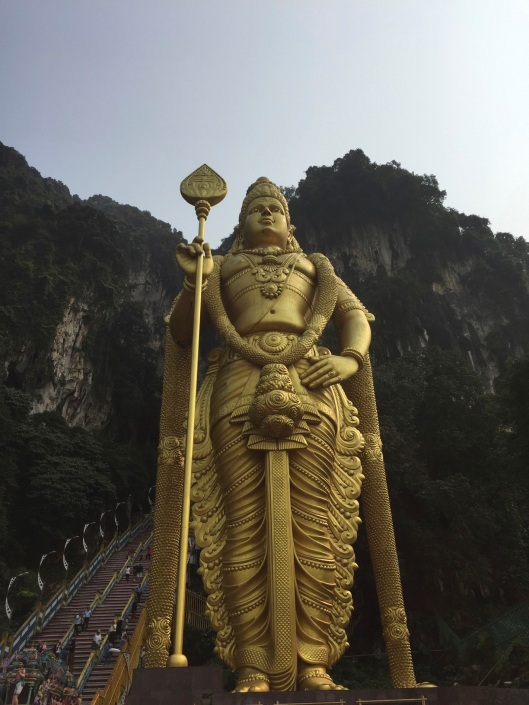 The imposing Lord Muruga at the Batu Caves.