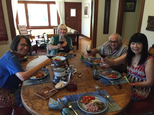 A late summer lunch with Jan and friends Heidi Lesemann, Bill Kraft and Joan Huang.