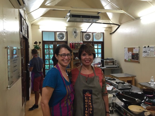 Jan with our teacher on a steamy hair day.