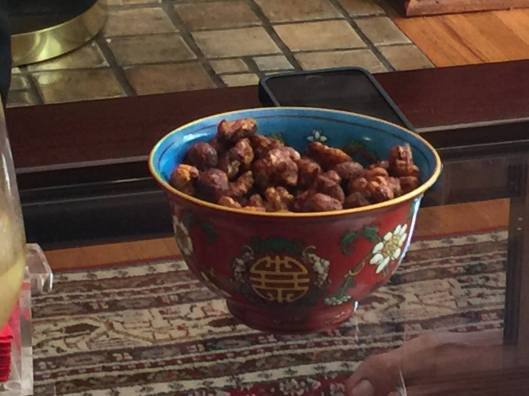 These spicy cashews, walnuts and hazelnuts were a big hit.