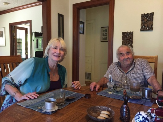 Friends Heidi Lesemann and Bill Kraft at our Malaysian lunch.