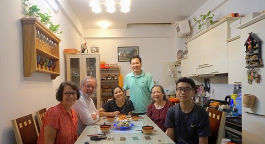 Dinner at home in Ha Noi.