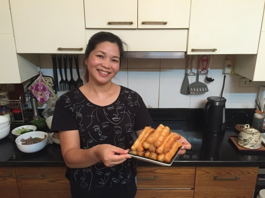 Tutor and master chef Tran Thu Thủy in her kitchen.