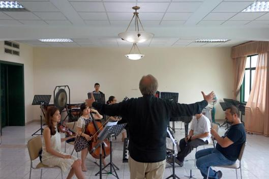 With my good friends in the Ha Noi New Music Ensemble.