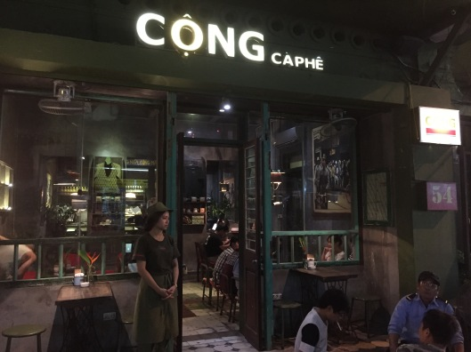 The greatest coffee in the world is at Cong Caphe.