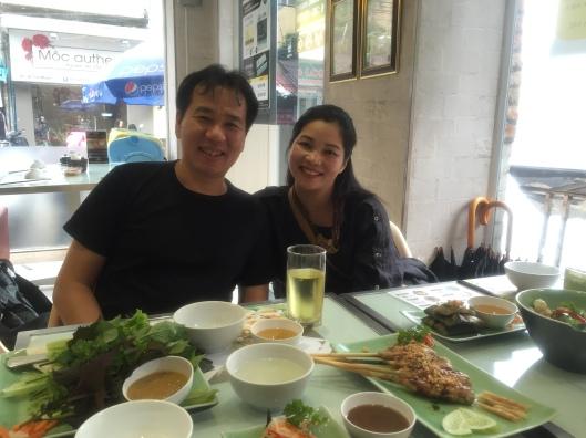 Our friends Pham Truong Son and Thran Thu Thủy at Mon Hue.