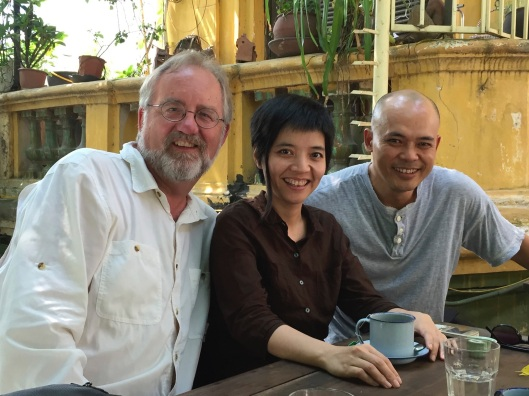 With composers Tran Kim Ngoc and Vu Nhat Tan.