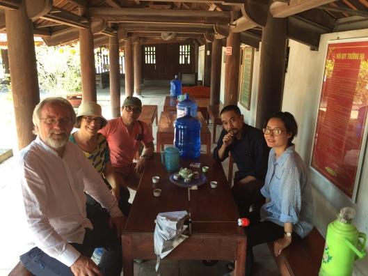 Cementing friendships over tea at Chua Dau.