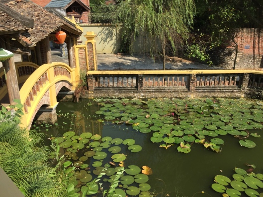 A lily pond at Chua Linh Am Temple.