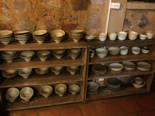 Exquisite selection of ceramic bowls for us to choose from.