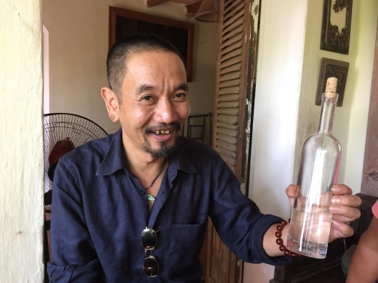 Minh and his utterly sophisticated blend of rice and sweet corn brandy.