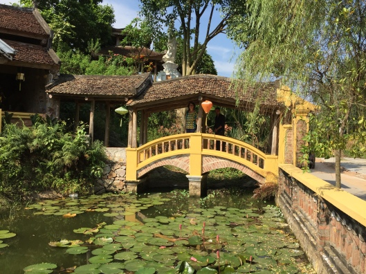 Got Giverny? A visit to a new Buddhist temple at Chua Lam Ninh. Look for Jan and Ming on the bridge!