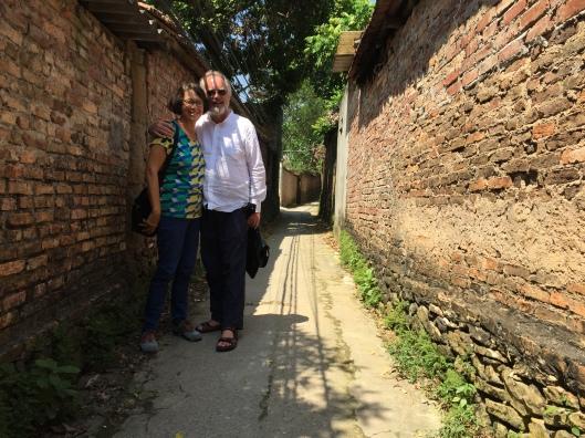 On a shady lane among Bac Ninh's rice country homes.