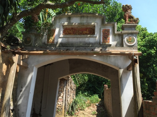 The entrance to the home hosts, friends of Minh and Tan.
