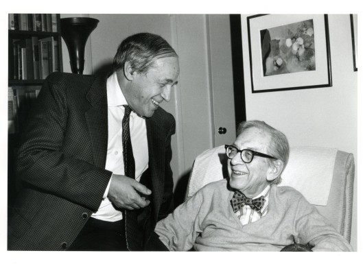Pierre Boulez on Sweetzer Ave. in West Hollywood with one of my mentors, Lawrence Morton.