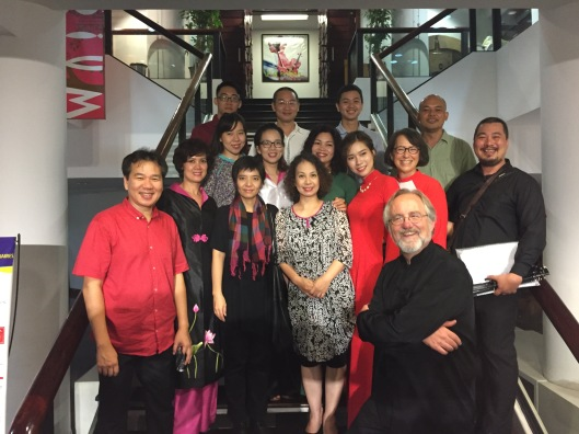 Essential group photo after a successful opening concert.