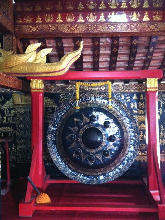 The Wat Xieng Thong gong struck by President Obama.