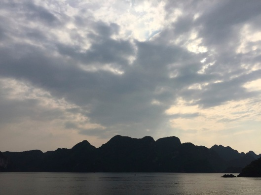 A world of clouds and dragons in Ha Long Bay.