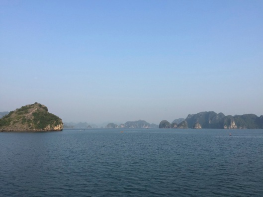 Sunrise on Ha Long Bay.