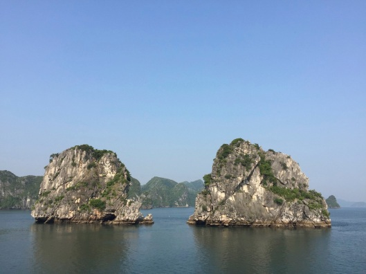 Gliding forward on Ha Long Bay.