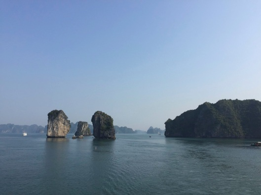Endless limestone formations await at Ha Long Bay.