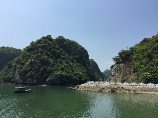 The road onto Cat Ba Island.