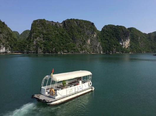 The landing boat.
