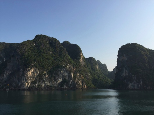 Gliding on Ha Long Bay in the morning light.