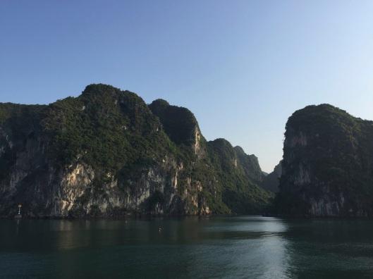 Gliding on Ha Long Bay in the morning light.