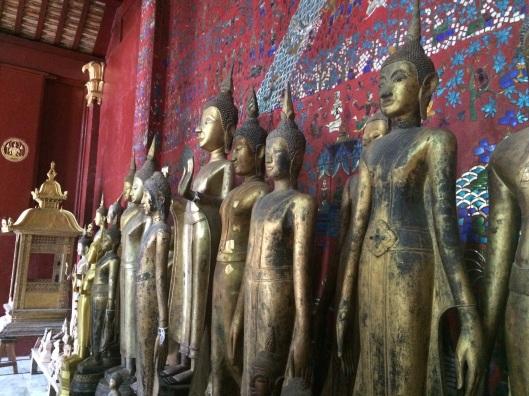 Buddhas at Wat Xieng Thong.