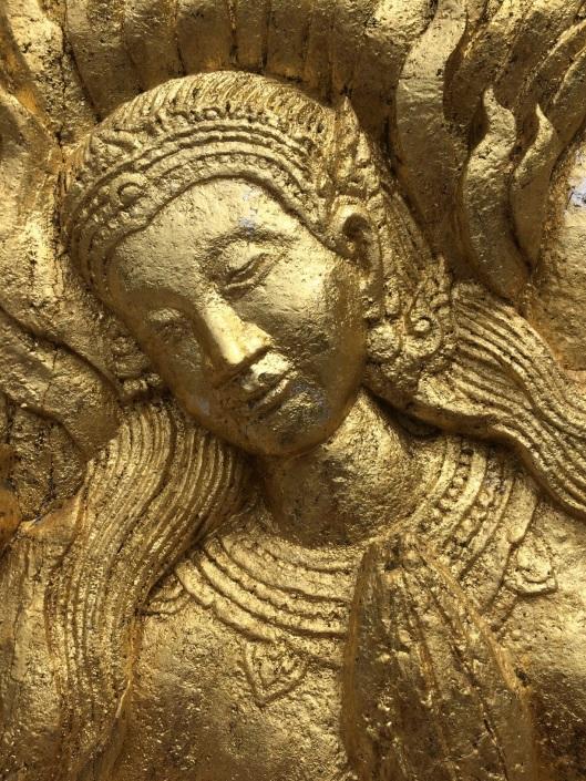 A close up of Sita at Wat Xieng Thon