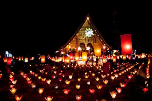 Lanterns are prepared at over 30 temples in Luang Prabang.