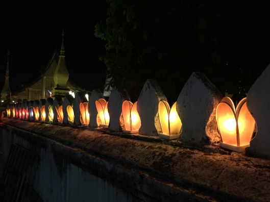 Lanterns on a temple wall.