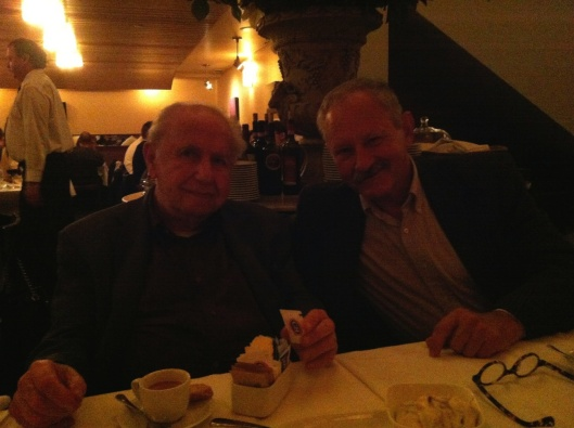 Francis Akos with Kate's husband harry Jacobs in San Francisco.