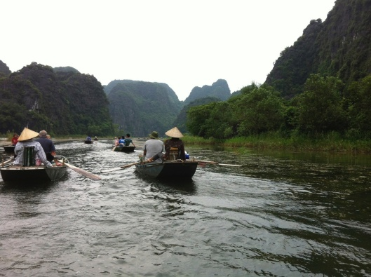The quiet beauty of a boat ride in Tam Coc, Viet Nam.