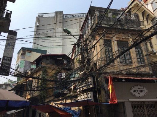 The temporary becomes the permanent with the ghost of France on a Ha Noi side street.